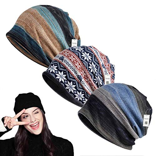 95c43c1e809 Inconly Chemo Caps for Women Chemo Beanies Women Men Chemo Cap Cancer Hats  Scarves Slouchy Baggy Beanie Soft Stretch Sleep Cap Hats Fashion Slouchy ...