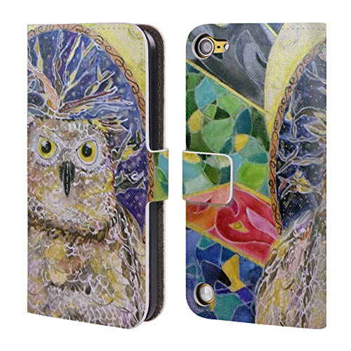 Official Lauren Moss Moonlit Night Birds Leather Book Wallet Case Cover for Touch 5th Gen/Touch 6th Gen