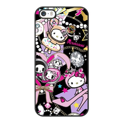 Coque,Coque iphone 5 5S SE Case Coque, Tokidoki Hello Kitty Cover For Coque iphone 5 5S SE Cell Phone Case Cover Noir