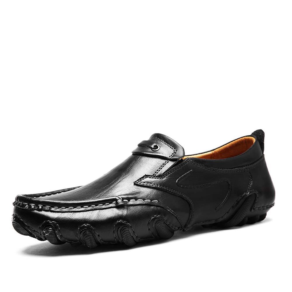 Qiusa Herren Slip auf Loafers Soft Breathable Sohle Nicht Slip lässig Breathable Soft Driving Deck Schuhe (Farbe : Gelb, Größe : EU 39) Schwarz 184a4d
