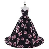 Aurora Bridal Women's Floral Print 2018 Homecoming Dresses Long Formal Prom Party Gown 559