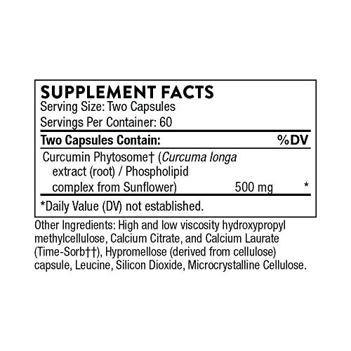 Thorne Research – Meriva SF Soy Free – Sustained-Released Curcumin Phytosome Supplement – 120 Capsules