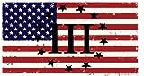 WickedGoodz 3 Percenter III American Flag Vinyl Decal - Patriotic Bumper Sticker - Perfect 2nd Amendment Gift