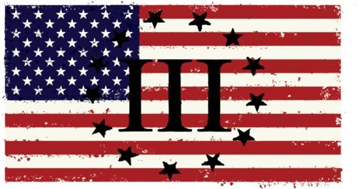 Hand American Flag Decal (3 Percenter III AMERICAN FLAG - Vinyl Decal Sticker - Great for Truck Car Bumper or Tumbler - Perfect 2nd Amendment Molon Labe Gun Supporter Gift, Made in the USA)
