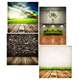4 Professional Photography Backdrops Lifestyle Photography Studio Set 280gsm Double Sided Prints