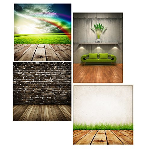 4 Professional Photography Backdrops Lifestyle Photography Studio Set 280gsm Double Sided Prints from Jet Storm