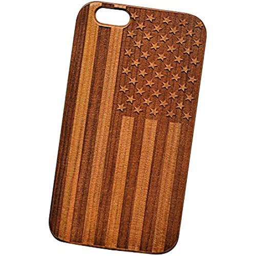 American Flag Engraved Cherry Wood Cover for iPhone and Samsung phones Wood - Samsung Galaxy s7 Edge Sales