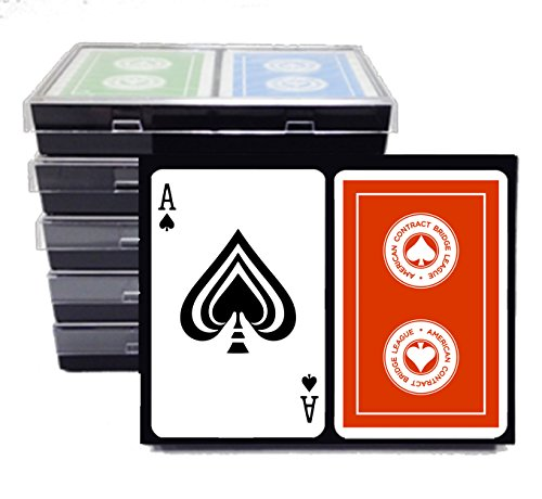 ACBL (American Contract Bridge) PLAYING CARDS - 6 DOUBLE DECKS - Plastic Coated - Bridge Size