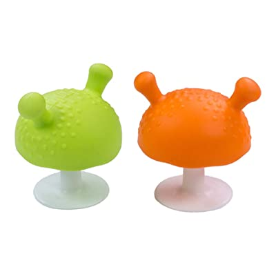 Milisten 2pcs Baby Teething Toys Mushroom Soother Teeth Biting Training Teethe Newborn Toddler Infant Biting Toys : Baby