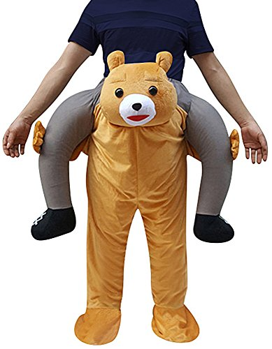 Creative Apparel Bear Funny Piggyback, Ride-on Shoulder, Carry Me Costume for Adults, One (Carry Me Costume Bear)