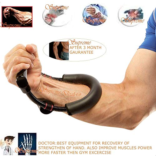 Supreme Deals Power Muscular Professionals Ergonomic Wrist Exerciser & Hand Exerciser Home Workout – Ideal for Athletes, Sportsmen, Fitness Enthusiasts. Price & Reviews