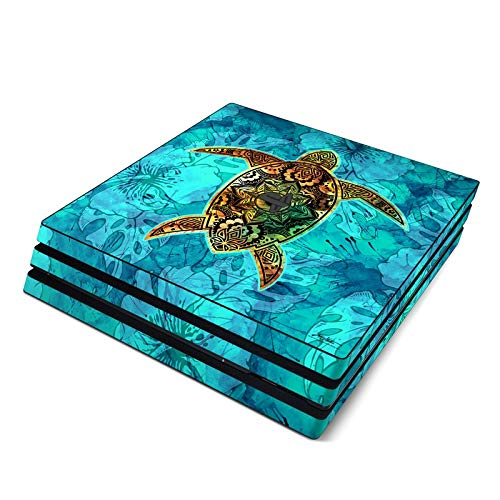 Sacred Honu Full Faceplates Skin Decal Wrap with 2 Piece Lightbar Decals for Playstation 4 Pro from DecalGirl
