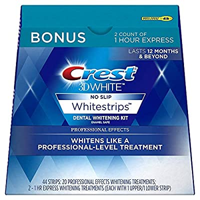 Crest 3D White Professional Effects Whitestrips 20 Treatments + Crest 3D White 1 Hour Express Whitestrips 2 Treatments…