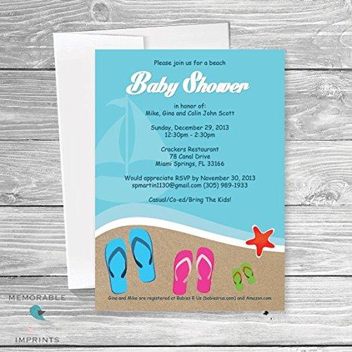 Amazon Com Beach Theme Baby Shower Invitation Beach Baby Shower