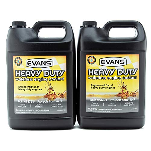 EVANS Coolant EC61001 Heavy Duty Waterless Coolant, 128 fl oz. 2 Gallon Pack with Funnel