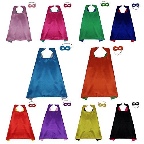 [Superheros Cape & Mask, D.Q.Z Unisex Kids Cloak Party Decoration Role Cosplay Costumes] (Salon Girl Costumes)