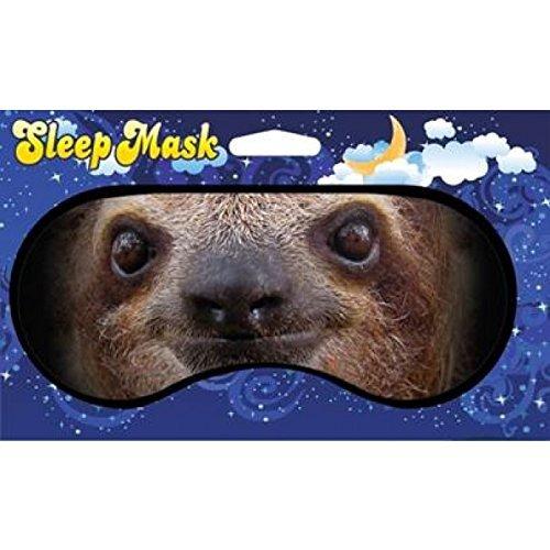 Sloth Face Design Novelty Sleeping Mask for Travel or Home (Funny Face Masks)