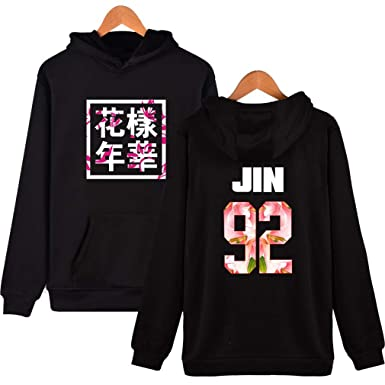 Socluer Unisex Sudaderas con Capucha KPOP BTS Camiseta Estampada Bangtan Boys BTS Young Forever Bloom Floral Suga Jin Jimin Jung Kook J-Hope Rap-Monster V: ...