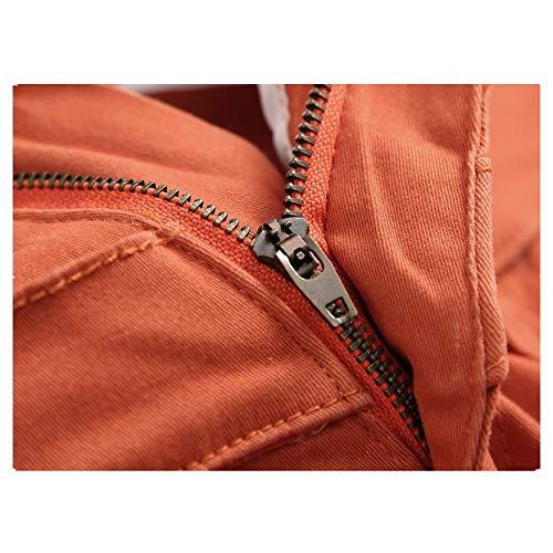 Los Cremallera 40 Vaqueros Cuidado La Casuales Rotos Pantalones Eu Falsos Facil Hombres Personalidad Ocasionales Dobles De Naranja Cierre tamaño Lineary pq4w0AW