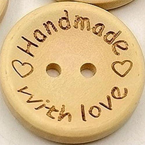 100psc buttons-round botones 2/agujeros botones de madera para costura y manualidades DIY Craft