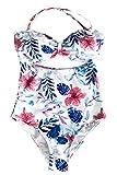 CUPSHE FASHION Women's Abstract Print Tank High Waisted Bikini Beach Swimwear Bathing Suit (S)
