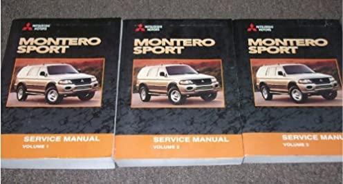 2001 mitsubishi montero sport shop service manual set mitsubishi rh amazon com 2000 Mitsubishi Montero Sport 2001 mitsubishi montero sport repair manual free