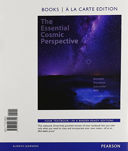 Essential Cosmic Perspective, The, Books A La Carte, Lecture - Tutorials For Introductory Astronomy, MasteringAstronomy With EText And Access Card (7th Edition)