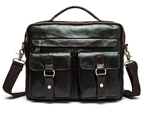 Men Bag Leather Handbag Retro Messenger Shoutibao Bag Bag Leather Horse June 4 Crazy Men FqfUxpw