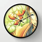 Amatsuki Bonten Piercings Tomatoes Look Black Frame 10 Inch Wall Decoration Wall Clock