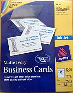 avery business cards 2 x 3 5 in ivory matte 1000 cards 8476 office products. Black Bedroom Furniture Sets. Home Design Ideas