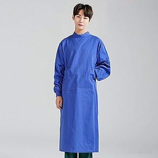QZHE Abbigliamento medico Gli Uomini E Le Donne Divise Mediche della Chirurgia dell'Abbigliamento Medico delle Infermiere Vestono Il Cappotto Lungo del Cappotto del Laboratorio