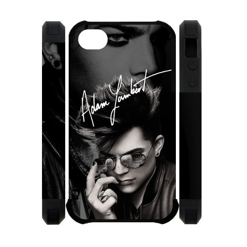The Rock God Adam Lambert Hard Case Cover Fashion Shell Protector for iPhone 4 4S