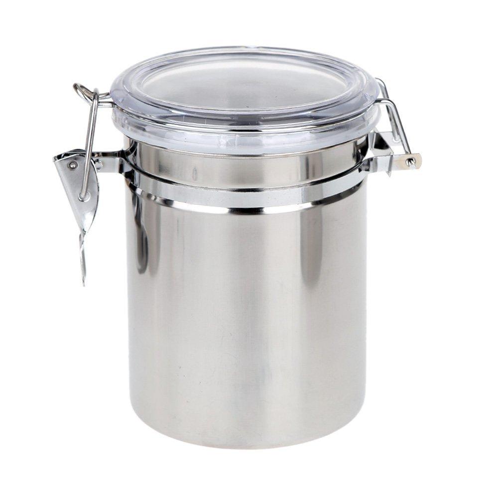 OIE - Bote de Cocina Hermé tico - Acero Inoxidable - 580 ml - Plata