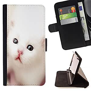 King Air - Premium PU Leather Wallet Case with Card Slots, Cash Compartment and Detachable Wrist Strap FOR Apple iPhone 6 6S Plus 5.5- Cat Cute Sleep