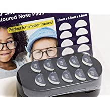 GMS Optical® 1.8mm x 13mm Short Anti-slip Adhesive Contoured Silicone Eyeglass Nose Pads - Perfect for Kids Glasses and Smaller Frames - 5 Pair (Clear)