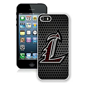 iPhone 5S NCAA American Athletic Conference AAC Football Louisville Cardinals 2 White Screen Phone Case Charming and Unique Design