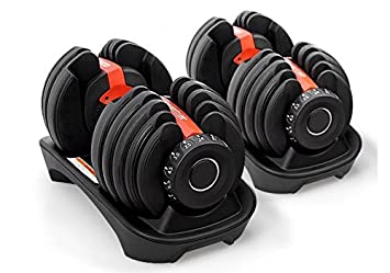 Mancuerna de carga variable, con set de pesos de selección rápida (de 24 o 40 kg): Amazon.es: Deportes y aire libre