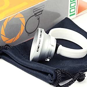 Tqie Circle Clip 0.67X Wide Angle and Macro Lens for iPhone 4/4S, iPad, Mobile Phone and Digital Camera , Silver