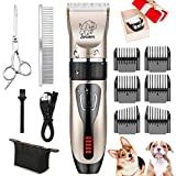 Best Dog Hair Clippers - Dog Clippers, USB Rechargeable Cordless Dog Grooming Kit Review