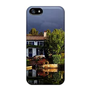 Cute Appearance Cover/tpu Lake House Case For Iphone 5/5s