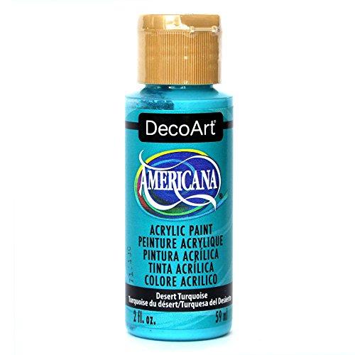 DecoArt Americana Acrylic Paint, 2-Ounce, Desert Turquoise]()