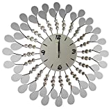 Handmade Decorative Larger Metal Wall Clock (glass)