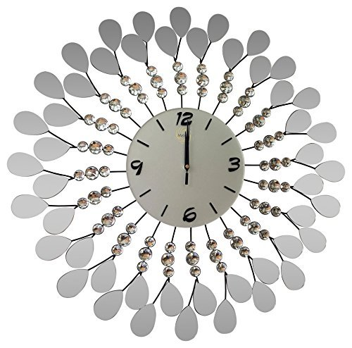 Handmade Decorative Larger Metal Wall Clock (glass) by Meida