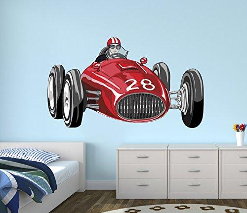 Cheap  Vintage Race Car Wall Decal Nursery Art Kids Bedroom Decor Vinyl Playroom..