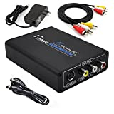 1080P HDMI to Composite 3RCA AV + S-Video R/L Audio Video Converter Adapter Scaler 720P 1080P Work with PS2 PS3 Xbox HDTV DVD TV STB Blue-Ray (HDMI to RCA)