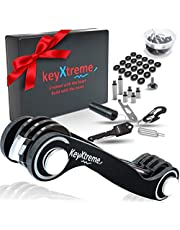 Smart & Compact Key Organizer by keyXtreme, Pocket Key Holder with Round Edges & Improved Anti-Loosening System, Smart Keychain with 10+ Tools Included (Cash stash & More) for up to 42 Keys (Black)