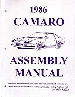 1986 chevrolet camaro factory assembly instruction manual includes:  standard camaro, coupe, berlinetta,
