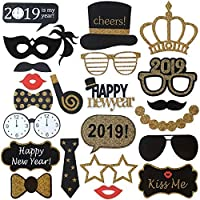 New Years Photo Booth Props– Pack of 25, Sturdy Cardstock...