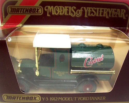 Models of Yesteryear Matchbox Y-3 1912 Ford Model 'T' Tankwagen Castrol Motor Oil 1:35 Scale Diecast (The Best Of Yesteryear)