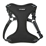 Best Pet Supplies Voyager - Fully Adjustable Step-In Mesh Harness with Reflective 3M Piping (Black, Small)